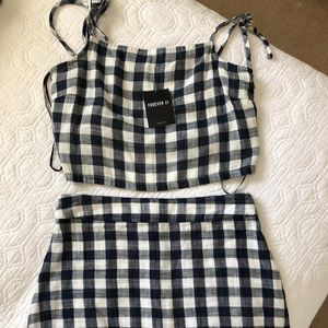 Navy Gingham Co-ord